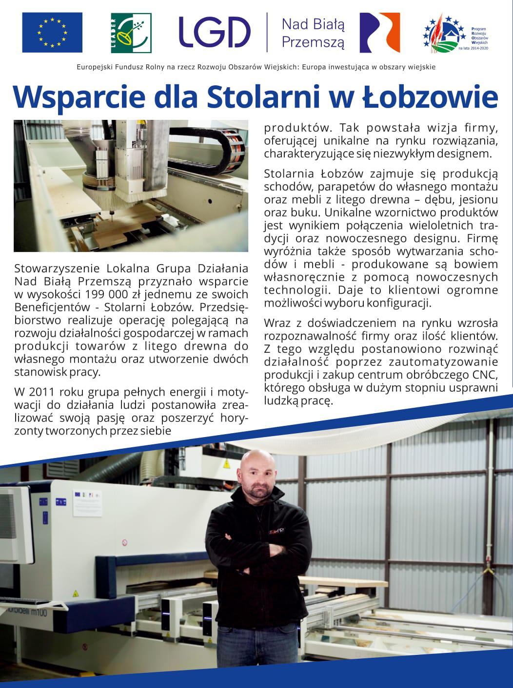 Wsparcie dla stolarni w Łobzowie