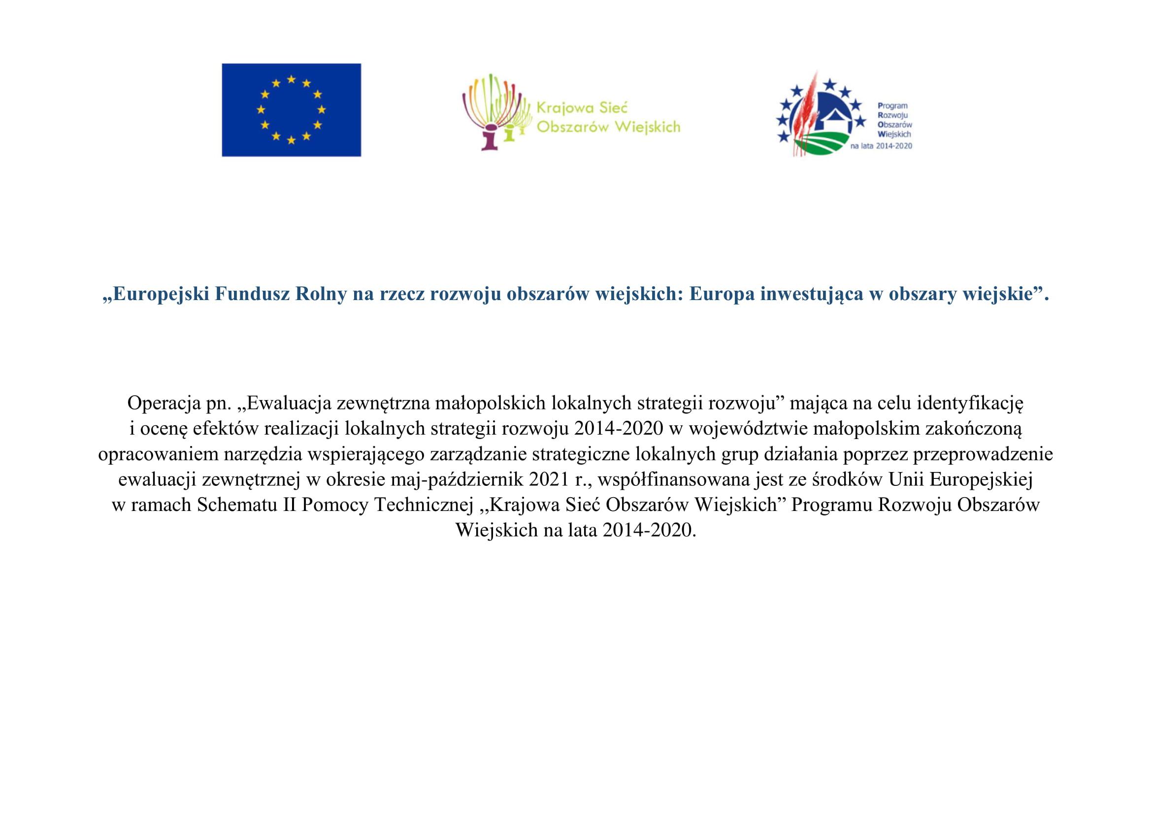 Dofinansowanie na ewaluację zewnętrzną małopolskich lokalnych strategii rozwoju
